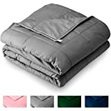 "Bare Home Weighted Blanket for Kids 10lb (40"" x 60"") - All-Natural 100% Cotton - Premium Heavy Blanket Nontoxic Glass Beads (Grey, 40""x60"")"