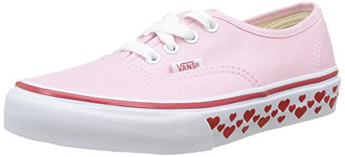 Vans Kids Authentic (Hearts Tape) Pink Lady/R Skate Shoe 3 Kids US ()