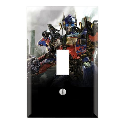 Single Toggle Wall Switch Cover Plate Decor Wallplate - Transformers Optimus Prime Autobots (Optimus Prime Cover)