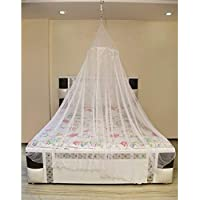 Creative Textiles Portable Polyester Mosquito Net for Double Bed Home & Travel, Lightweight Pop-Up Tent for Beds (White)