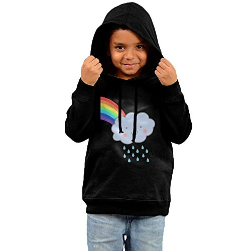 Unyiqun Cute Rain Cloud With Rainbow Toddler Hoodies - Soft And Cozy Hooded Sweatshirts 5-6 (Sock Hop Outfit Ideas)