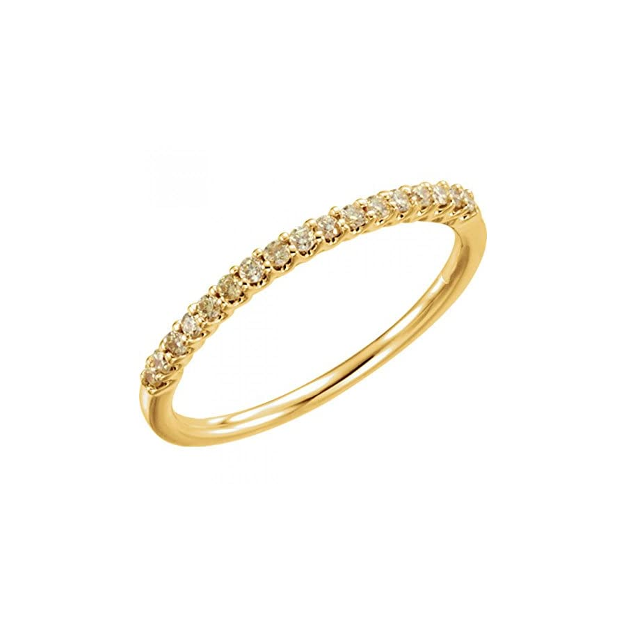 14kt Gold 1/6 CTW Yellow Diamond Stackable Ring