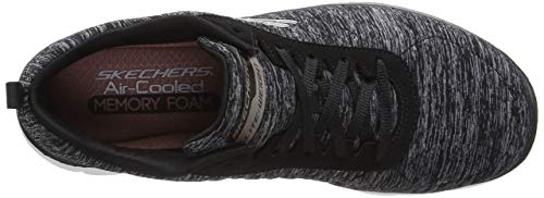 Skechers Rose 0 Sneaker 2 Flex Appeal Black Women's Gold fIwqr0nf
