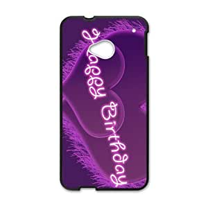 HTC One M7 Cell Phone Case Black Purple Happy Phone Case Cover Protective DIY XPDSUNTR04809