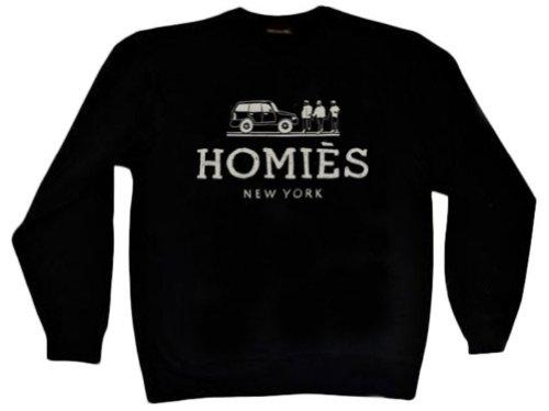 Reason Clothing Men's Homies Crewneck Black Medium