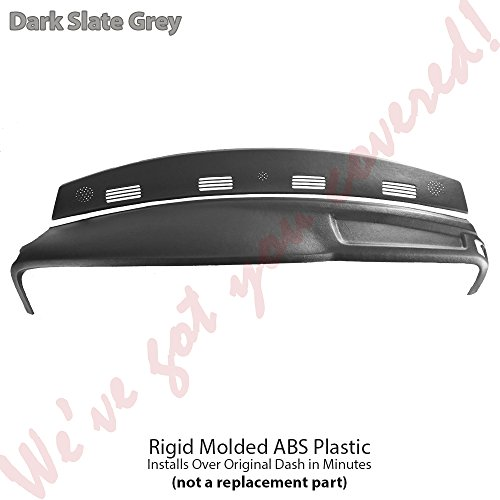 DashSkin 2 Piece Molded Dash Cover Kit Compatible with 02-05 Dodge Ram in Dark Slate Grey ()