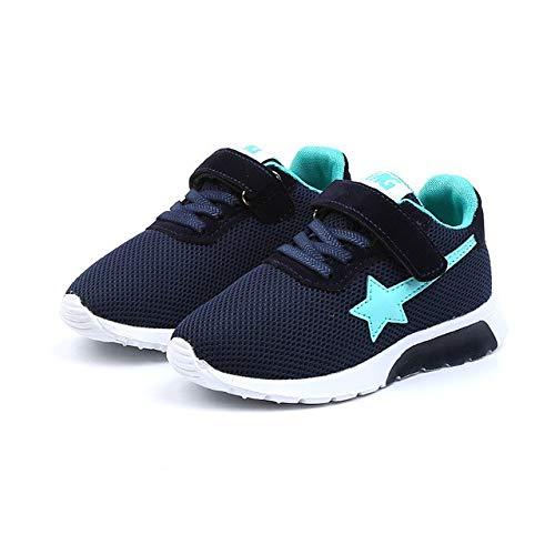 - Tronet Kids Boys Girls Star Mesh Breathable Sport Running Sneakers Shoes Dark Blue