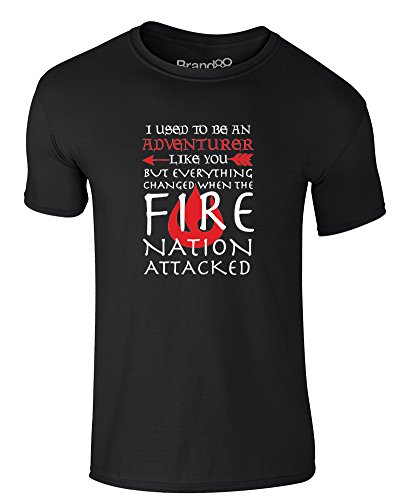 Adventuring Until The Fire Nation Attacked, Adults T-Shirt - Black/White M