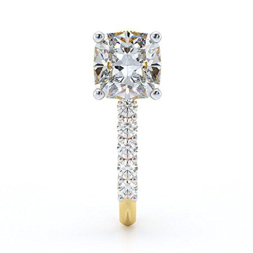 14K jaune Or 0,75ct tw White-diamond (IJ | SI) Boucles d'oreilles créoles