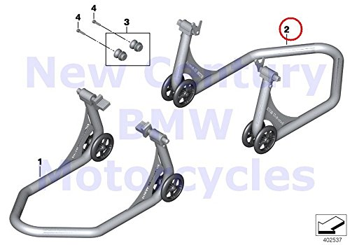 BMW Genuine Motorcycle Assembly Stand Sport 2 Sport 2 Rear Assembly Stand HP4 S1000RR S1000R S1000XR by BMW (Image #1)'