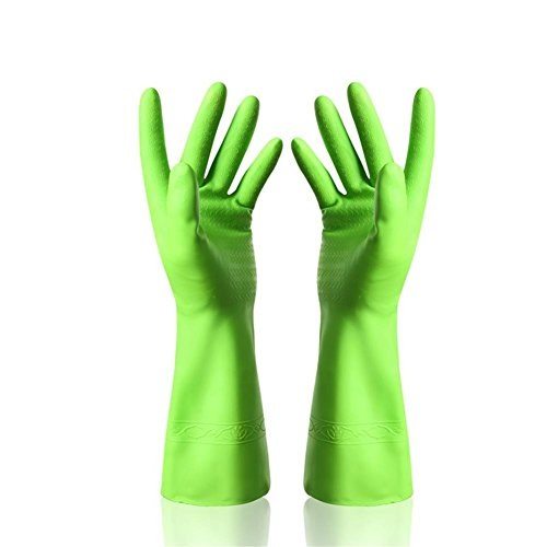 xianshijie Dishwashing Latex Gloves Cleaning Gloves Waterproof Rubber Gloves for Car-washing Laundry Household Cleaning Kitchen 1 Pair