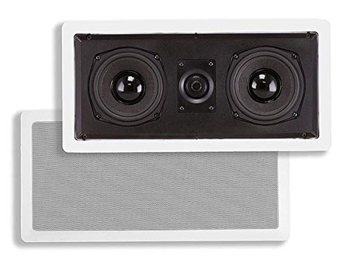 Monoprice Aramid Fiber in-Wall Center Channel Speaker - Dual 5.25 Inch (Single) with Titanium Tweeters - Caliber Series 20mm Titanium Dome Tweeters