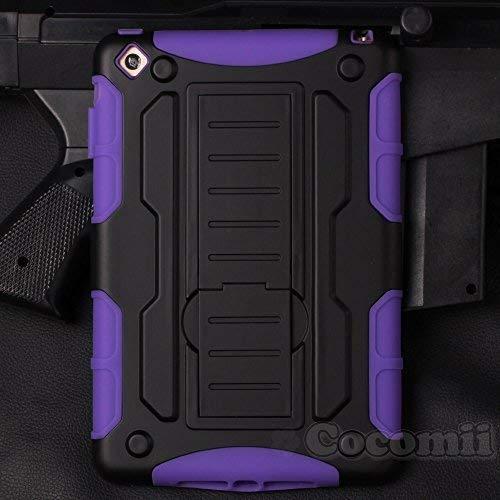 Cocomii Robot Armor iPad Mini 3/2/1 Case New [Heavy Duty] Premium Tactical Grip Kickstand Shockproof Bumper [Military Defender] Full Body Dual Layer Rugged Cover for Apple iPad Mini 3/2/1 (R.Purple) - New Mini Bumper