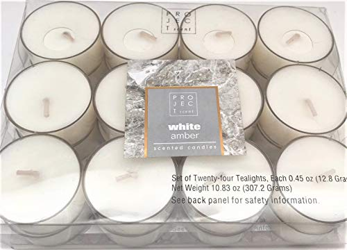 Price comparison product image Chesapeake Bay Scented Tealight Tea Candles White Amber Set of 24