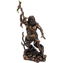King Zeus Grecian God Throwing Lightning Resin Statue Figurine