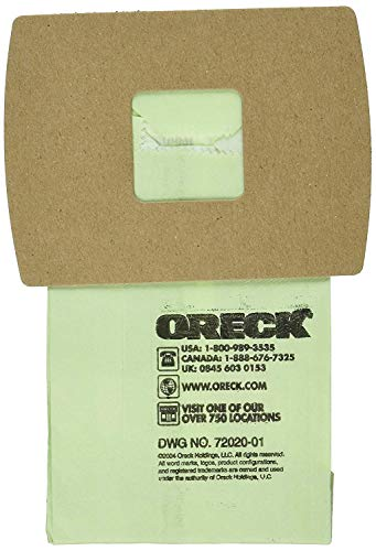 Original Oreck PKBB12DW Super-Deluxe Compact Canister Bags (15 Filter Bags, 1 Motor Filter)
