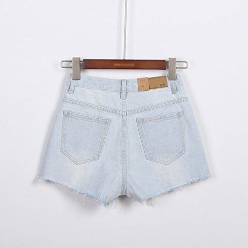 Retrò Lihaer Donna Di Tendenza Chiaro Estivi Blu Pantaloncini Moda Hot Casual Buco Pants Jeans Da Donne Alla wrq0fg6nr