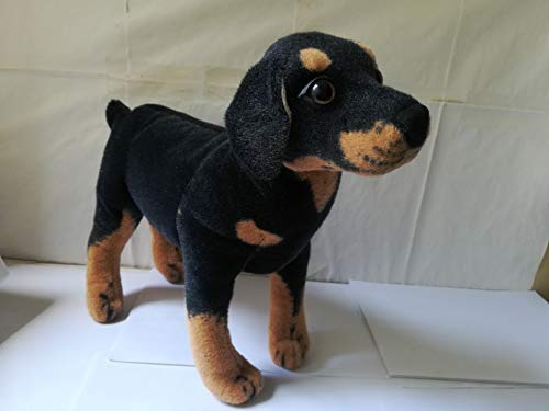 - PAPPET Rottweiler Stuffed Animals Standing Rottweiler Dog Plush Toy Simulation Rottweiler Soft Doll Birthday Gifts - 15x13.8 inch