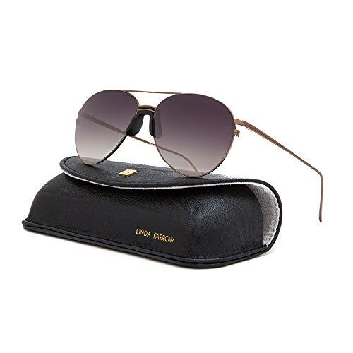 107aee946bc5 Linda Farrow Luxe LFL 344 Sunglasses C7 Bronze   Grey Gradient Lens