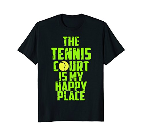 Tennis Court Shirt Tennis Player Costume Funny Tennis Gifts ()