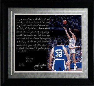 Athlon CTBL-015698 Christian Laettner Duke Blue Devils Unsigned-Facsimile 1992 The Shot vs Kentucky Framed Story Photo - 16 x 20