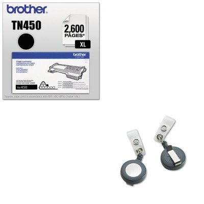 KITBRTTN450GBC50573 - Value Kit - GBC Badgemates Plastic Retractable Name Badge Reel (GBC50573) and Brother TN450 TN-450 High-Yield Toner (BRTTN450) by GBC