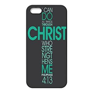 Christian bible verses quotes Design Unique Customized Hard Case Cover for iPhone 5,5S, Christian bible verses quotes iPhone 5,5S Cover Case