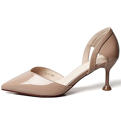 Calado YMFIE Rojo Solo Verano B de Sexy Primavera Altos Zapatos de Zapatos de Las y Hueca Tacones Fiesta señoras Temperamento Zapatos Trabajo xYqnSYrv