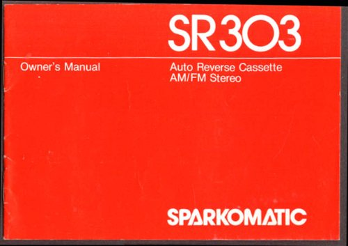 sparkomatic am fm cassette player sr303 manual 1979 at amazon\u0027s Toyota Wiring Diagrams