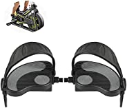 Exercise Stationary-Bike-Pedals with Straps - 1 Pair Fitness Bike Pedals Replacement Parts for Home Gym Indoor