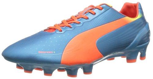 Puma evoSPEED 2.2 FG 102861 Herren Fußballschuhe Blau (Sharks Blue-fluro Peach-fluro Yellow 05)