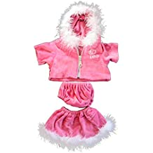 """Pink """"Love"""" Dress Teddy Bear Clothes Outfit Fits Most 14"""" - 18"""" Build-a-bear, Vermont Teddy Bears, and Make Your Own Stuffed Animals"""