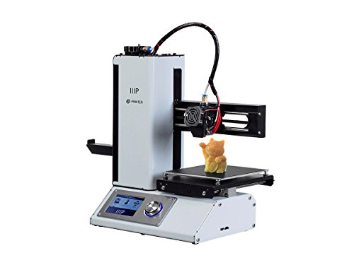 Monoprice Select Mini 3D Printer v2 - White With Heated (120 x 120 x 120 mm) Build Plate, Fully Assembled + Free Sample PLA Filament And MicroSD Card Preloaded With Printable 3D Models