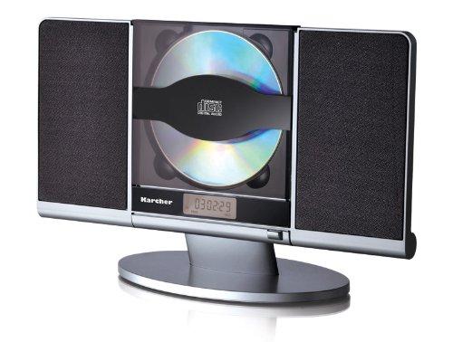 Kärcher MC 6512 - Microcadena para (reproductor CD, lector de tarjetas SD, USB, radio PLL), plateado y negro [importado]
