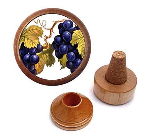 Best Vintage Red Grape Wine Lover Gift Present idea | Bottle Stopper Set