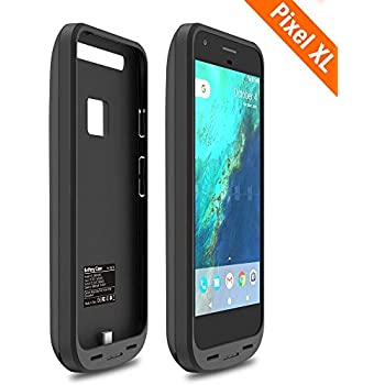 official photos c64c5 b920b ICONIC [Upgrade] Pixel XL Battery Case, 5000mAh Charger Charging Case High  Capacity Portable External Protective Power Bank Pack for Google Pixel XL  ...