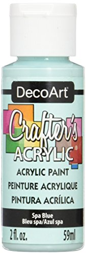 DecoArt Crafter's Acrylic Paint, 2-Ounce, Spa Blue