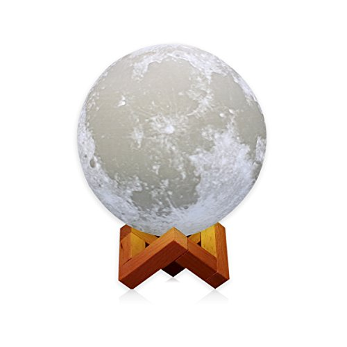 AMZLIFE  3D Printing LED Moon Lamp Lighting, Touch Sensor Sw