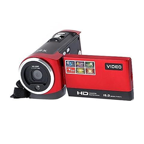 Camera Camcorders,HDV-107 Digital Video Camcorder Camera HD 720P 16MP DVR 2.7'' TFT LCD Screen 16x Digital ZOOM DV camera(Black) Come woth a 16GB Memory Card (Jvc Everio Sd Card)