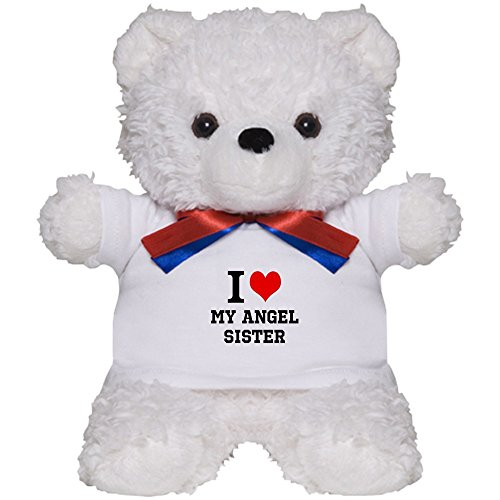 CafePress - I Love My Angel Sister - Teddy Bear, Plush Stuffed (Personalized Angel Bear)