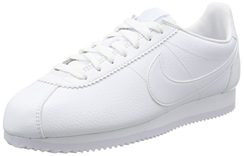Cortez Nike white Men Classic Nero White White 111 Leather Trainers White 771UEwq
