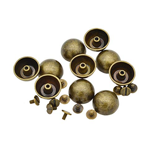 - 10 Pcs Dome Mushroom Rivet Spike Screw DIY Leathercraft Hat Bag Decor Punk (Color - Bronze(20mm))
