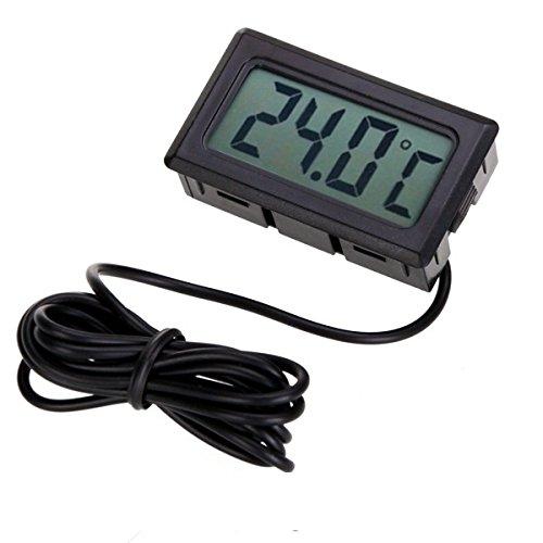 ATPWONZ 2m Mini Termómetro Digital con Pantalla LCD con Sonda ...