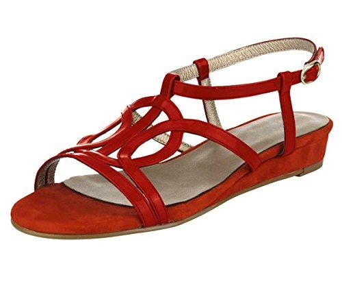 Heine - Best Connections - Sandalias de vestir para mujer Naranja rojo (Koralle) Naranja - rojo (Koralle)