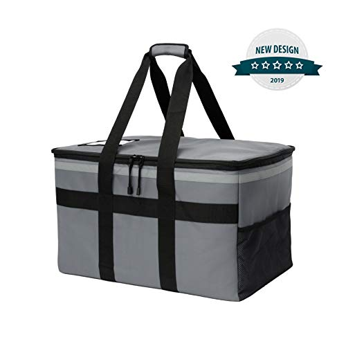 Liner Removable Thermal - Keepx Insulated Food Delivery Bag - Commercial Catering Cooler Bags with Removable Leak Proof Liner for Meals Transport - Extra Large Professional and Personal Use Hot and Cold Dishes Thermal Carrier