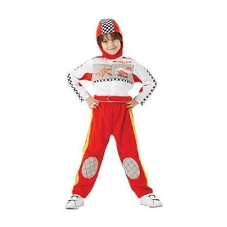 Rubbies Disney Cars - Disfraz de piloto de carreras del Rayo McQueen para niños