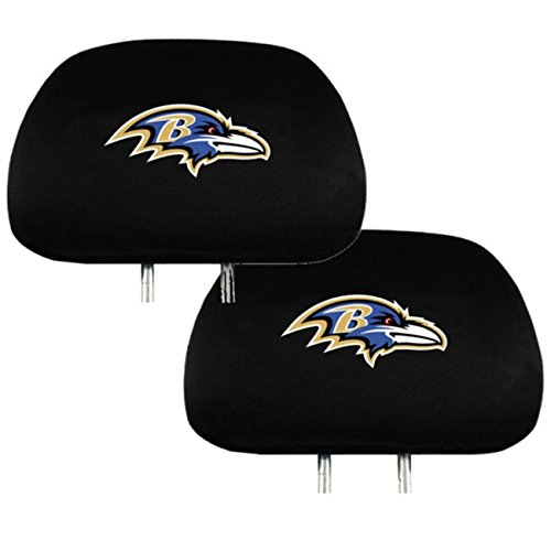 Official National Football League Fan Shop Authentic Headrest Cover (Baltimore Ravens) Covers Shop