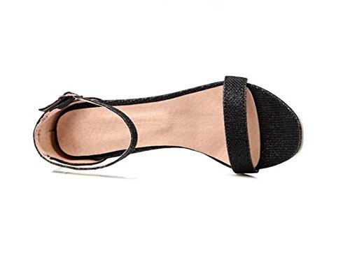 42 Altos Black tacones Verano De Black 32 Xie Trabajo 36 Sandalias Compras 9cm fiesta 37 xE1qUavP