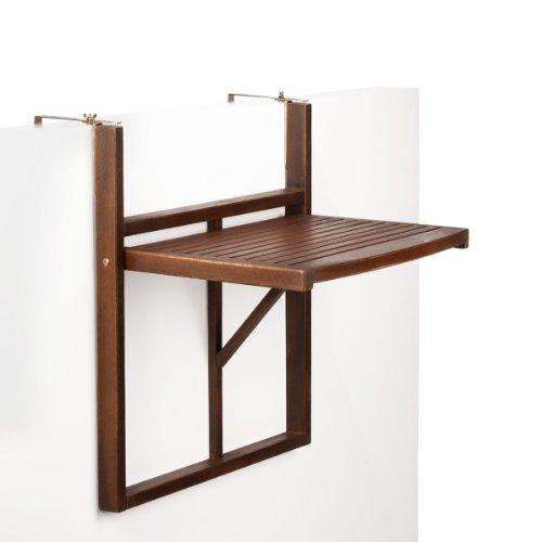 Butlers lodge mesa plegable para barandilla de balc n for Mesa colgante para balcon