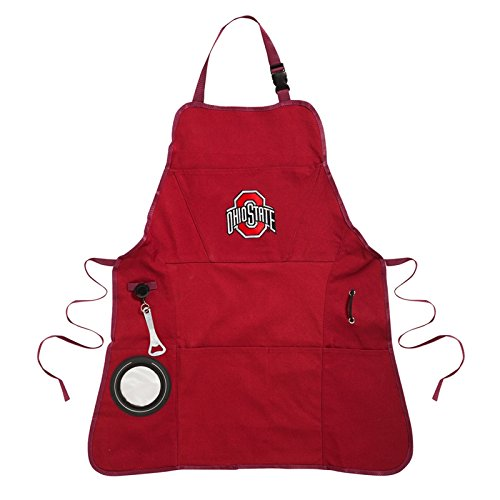 Ashley Gifts Customizable Embroidered Apron, Mens, Ohio State University ()